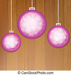 Christmas balls with place for your images.  + EPS8