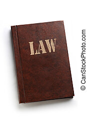 Law book on white background