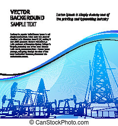 Oil rig banner for your text.