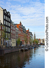 Amsterdam inner city, Netherlands - Amsterdam innercity with...