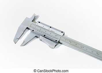 Caliper isolated on white background