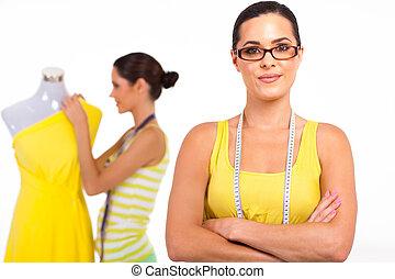 裁縫, 相當, 年輕, 女性