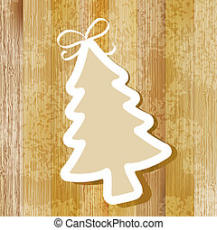 Tree on wooden background.  + EPS8