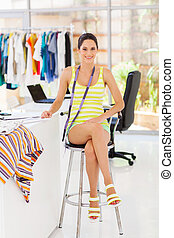 attractive young female fashion designer