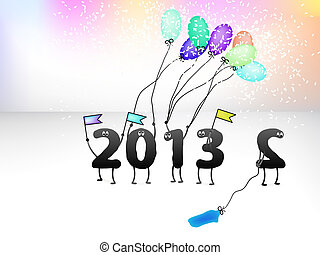 Funny 2013 New Year's Eve greeting card. + EPS8