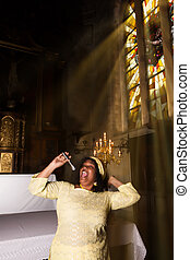 Happy Singer for the Lord - African-American gospel singer...