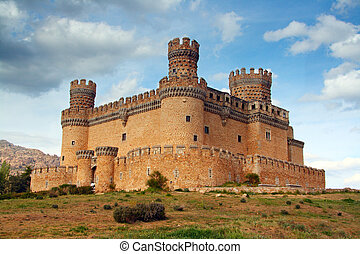 Manzanares el Real Castle (Spain), build in the 15th....