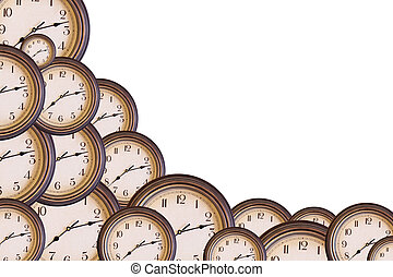 clocks with copy space