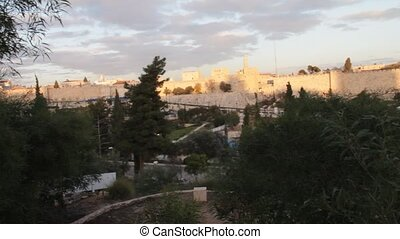 The ancient walls of Jerusalem - The ancient walls of the...
