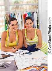 pretty fashion designer and customer