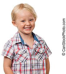 Very cute smiling boy