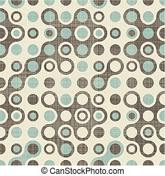 abstract retro pattern in blue grey and brown
