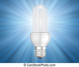 Illuminated energy saving light bulb