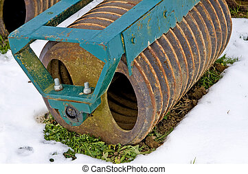 agriculture machine in hibernation