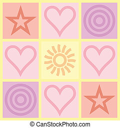 Valentines Day congratulation card - square Valentines Day...