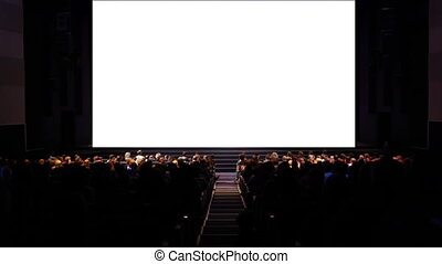 Viewers in the cinema house.