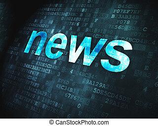notícia, concept:, notícia, digital, fundo