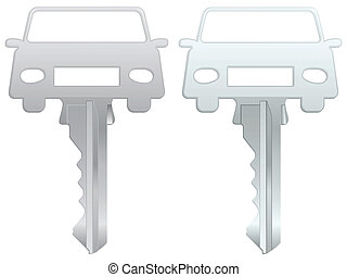 car key - Car key on white background. Vector illustration.