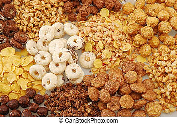 Cereals - Various types of cereals with different colors