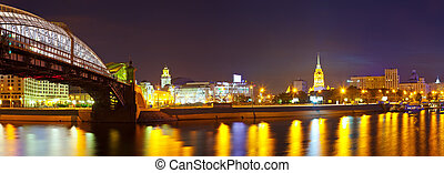 View of Moscow in summer night - View of Moscow Square of...