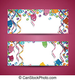Carnival Banners - Vector Illustration of two Colorful...