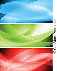 Colourful wavy banners - Abstract wavy banners Vector design...