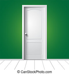 Door. Vector illustration - Vector illustration of a white...