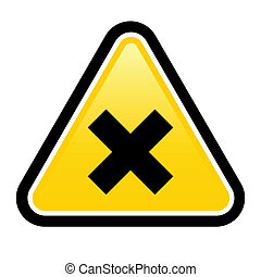 Harmful Sign - Harmful yellow sign on a white background...