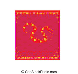 A vector illustration of Year of Snake design for Chinese...