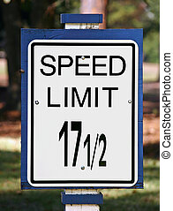 Speed Limit Sign - An odd speed limit sign showing the limit...