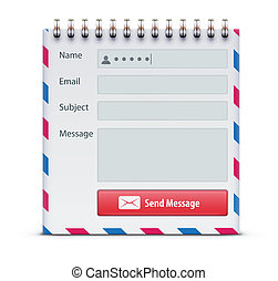 Contact us form -  mail form concept