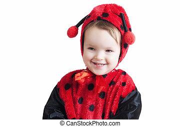 Little ladybird girl - Little girl in ladybird costume -...