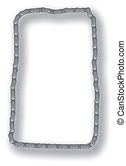 Bicycle Chain Border - The links of a Cycle or motorcycle...