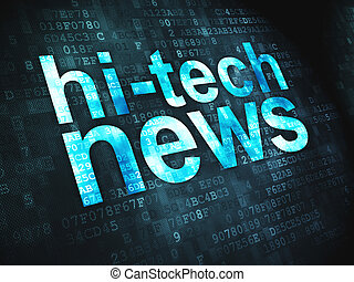 News concept: Hi-tech News on digital background - News...