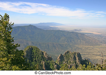New Mexico Manzano Mountains - Aerial view of the Manzano...
