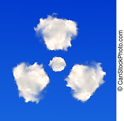 radiation symbol from clouds