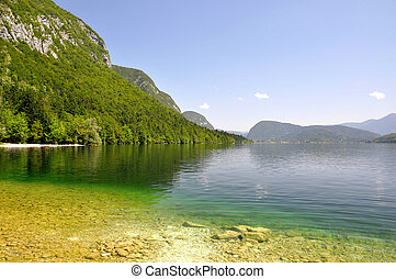 Lake Bohinj in Julian Alps - Slovenia