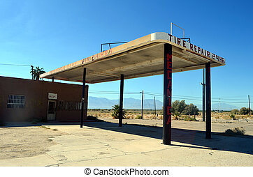 Tire Repair Store - Abandoned Tire Repair Store in the...