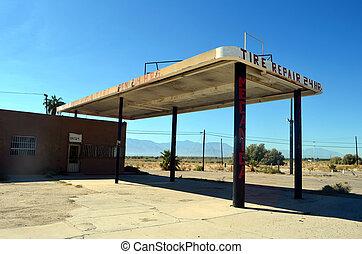 Tire Repair Store - Abandoned Tire Repair Store in the...