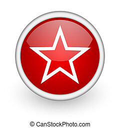 star red circle web icon on white background