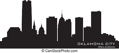 Oklahoma City skyline Detailed silhouette Vector...