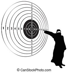 target with man vector illustration