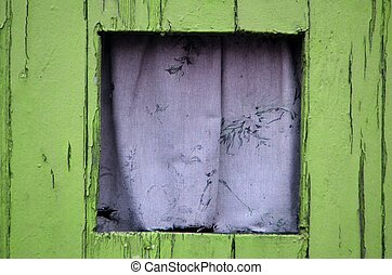 Purple and Green Window