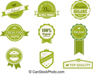 Eco Vintage Labels Bio template set