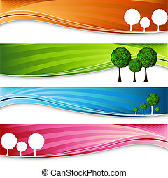 Orchard Tree Banner Set