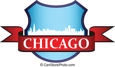 Chicago crest - City of Chicago crest with high rise...