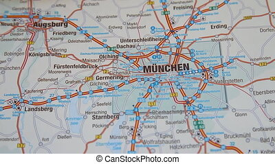 Munich Munchen map section