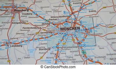 Munich (Munchen) map section