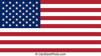 Flag of the United States. - The official basic design of...
