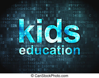 Education concept: Kids Education on digital background -...